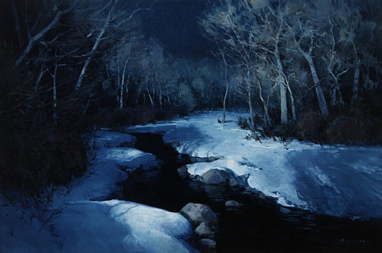 Night in White Satin  -  Josh Elliott Oil 36 x 24 - Entered On 06-17-2011