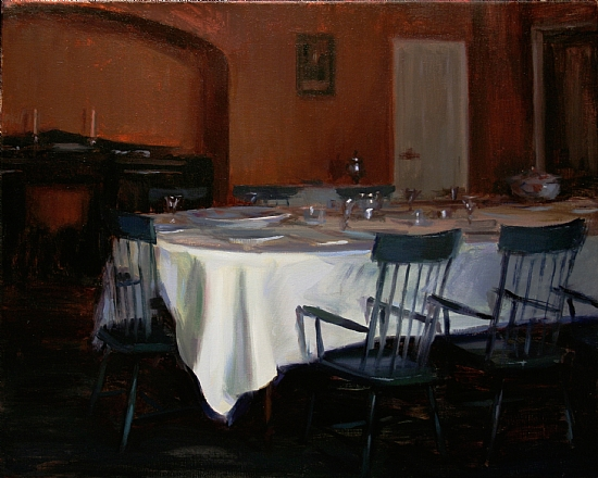 A Table Setting  -  John Ball Oil 20 x 16 - Entered On 08-30-2011