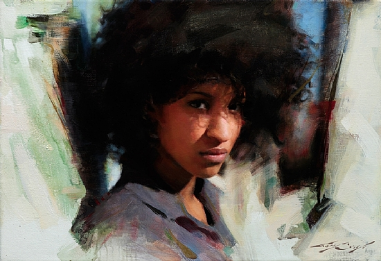 Ana  -  Casey Baugh Oil 20 x 14 - Entered On 09-26-2011