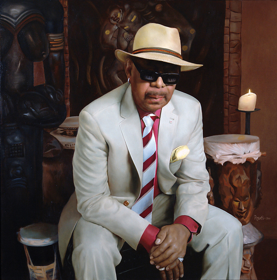 "Gospel Musician Dr. Trevor W. Payne  -  Steven Rosati Oil 36"" x 36"" - Entered On 05-31-2012"