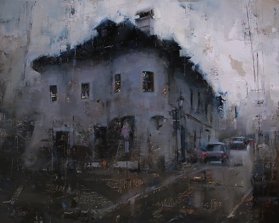 Blackness Over the Lower Street  -  Tibor Nagy Oil 20 x 16 - Entered On 07-31-2012