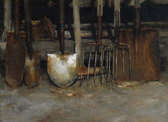 Sow the Seed  -  Tanya Bone Oil 24 x 18 - Entered On 08-31-2012