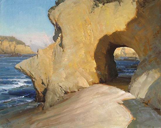 Keyhole Rock  -  Joshua Clare Oil 30 x 24 - Entered On 11-29-2012