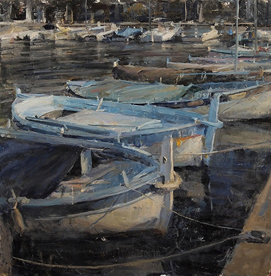 Old Harbor in Cap Ferrat  -  Derek Penix Oil 24 x 24 - Entered On 11-30-2012